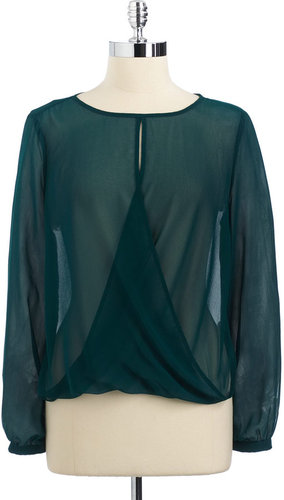 ARK & CO Long-Sleeved Sheer Top