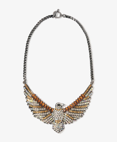 Forever 21 Sparkling Eagle Necklace