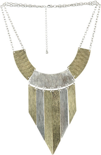 Textured Metal Statement Necklace