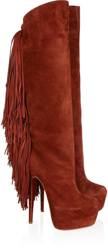 Christian Louboutin Interlopa 165 fringed suede knee boots