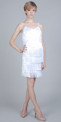 White Fringed Flapper Dresses by eDressMe