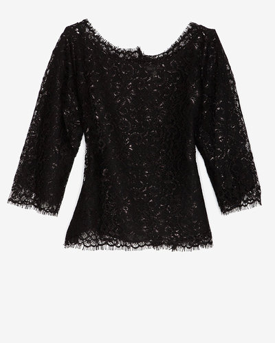Joie Elvia Lace Metallic Blouse
