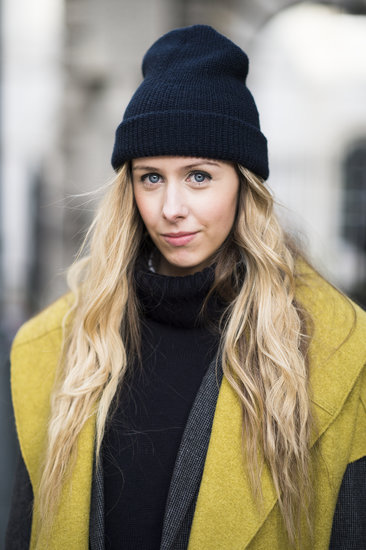 Textured, wavy hair and thick eyeliner looked gorgeous tucked under Daniella Robins's cap. Source: Le 21ème | Adam Katz Sinding