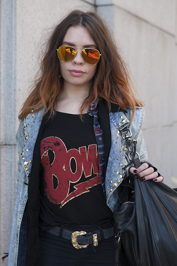 This fashion student showed that grunge is good with high-on-texture hair.