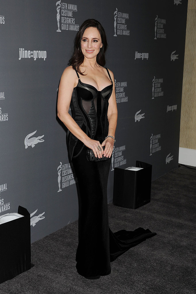 Madeline Stowe went for a sexy black number.