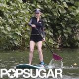 Renée Zellweger showed off her paddleboarding skills.