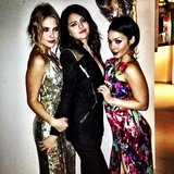 Ashley Benson, Selena Gomez, and Vanessa Hudgens posed for photos before heading to their Spring Breakers premiere in Berlin. Source: Instagram user itsashbenzo
