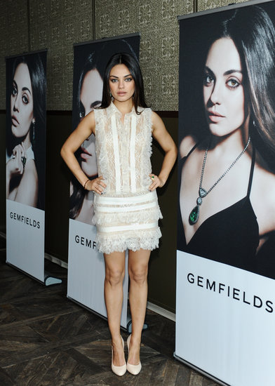 MIla Kunis was announced the face of Gemfields jewelry in LA.