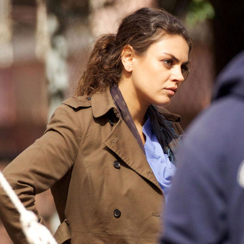 Mila Kunis on Set For The Angriest Man in Brooklyn Pictures
