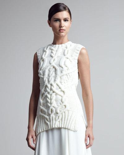 Derek Lam Sleeveless Cable-Knit Sweater