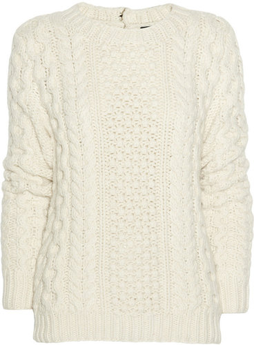 Joseph Cable-knit wool and cashmere-blend sweater