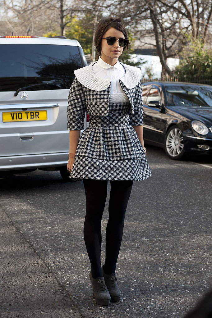 Miroslava Duma gave us a sweet look with a fashion-forward twist.