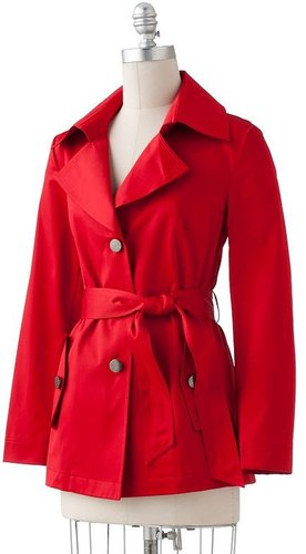 Dana buchman sateen trench coat