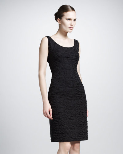 Lanvin Scoop-Neck Brocade Dress