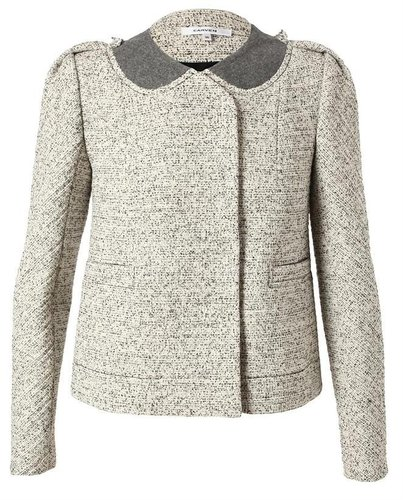 CARVEN Tailored Boucle Tweed Jacket