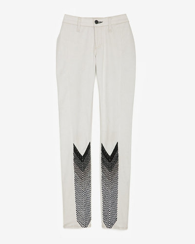 Rag & Bone/jean Rag & Bone/jean Exclusive Midrise Embroidered Chevron Skinny: Winter White