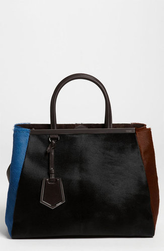 Fendi '2Jours - Medium' Calf Hair Shopper