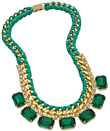 Sara Designs Teal Green Crystal Necklace
