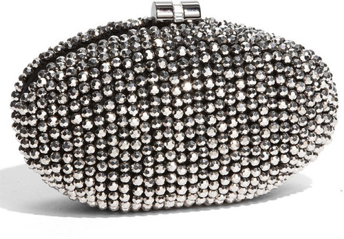 Sondra Roberts Beaded Minaudiere Box Clutch