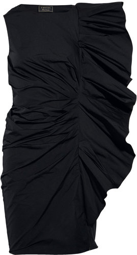 Lanvin Structured ruffled taffeta dress