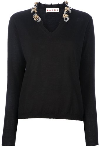 Marni Embellished sweater