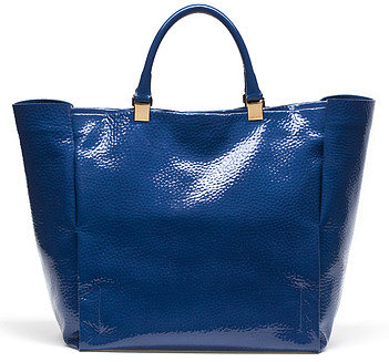 Shopping Bag In Patent Leather