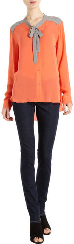 Mason by Michelle Mason Combo Blouse