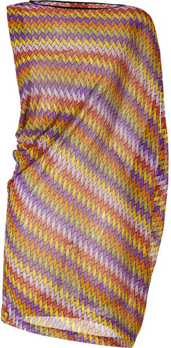 Missoni Mare Lemon Multicolor Asymmetric Dress