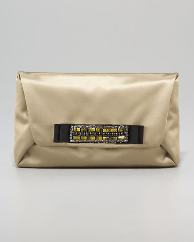 Lanvin Mai Tai Satin Clutch Bag