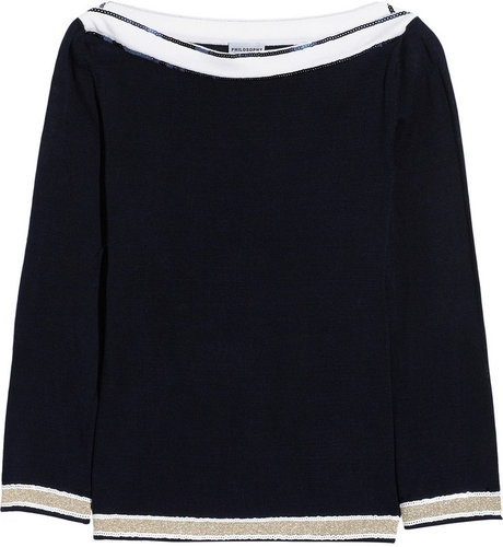 Philosophy di Alberta Ferretti Sequin-embellished cotton-jersey sweater