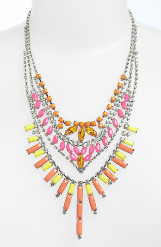 BP. Neon Rhinestone Statement Necklace