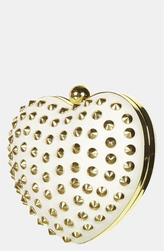 Topshop Stud Heart Box Clutch