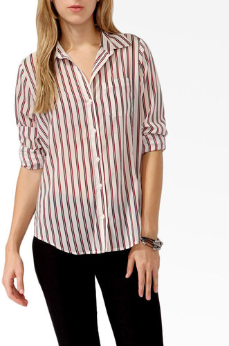 FOREVER 21 Vertical Striped Shirt