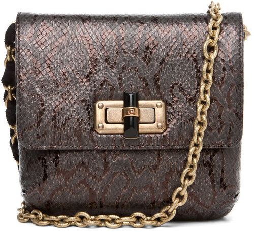 Lanvin Mini Happy Bag in Brown