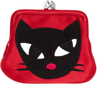 Lulu Guinness Kooky Cat Mini Frame Purse