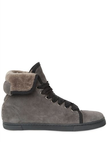 20mm Shearling High Top Sneakers