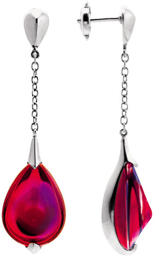 Baccarat Fleurs De Psydelic Iridescent Ruby Earrings