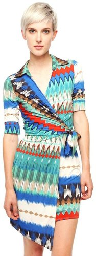 s twelve Chevron Print Wrap Dress