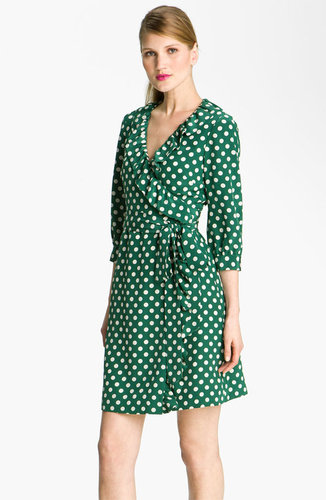 Kate Spade New York &#039;daniella&#039; Polka Dot Silk Wrap Dress