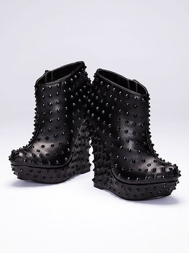 Colin Stuart Studded Wedge Bootie