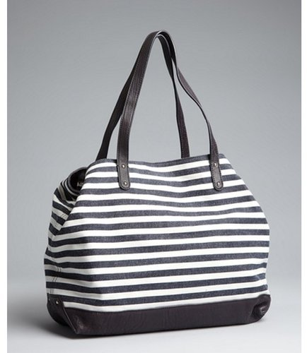 Rebecca Minkoff navy stripe canvas 'Cherish' shoulder bag