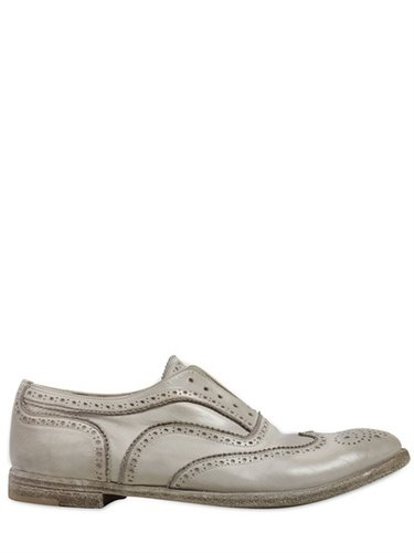 Officine Creative - 20mm Washed Leather Laceless Brougue