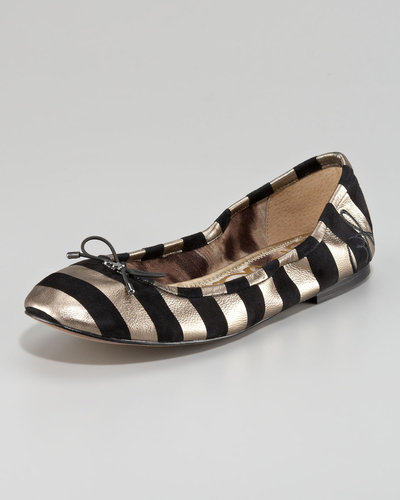 Sam Edelman Felicia Striped Suede Flat
