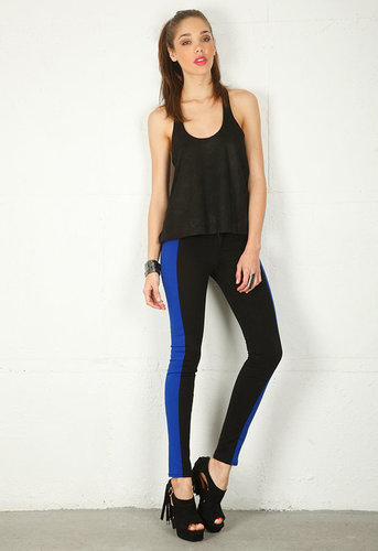 The Split Skinny in Blue/Black - by Rag & Bone/JEAN
