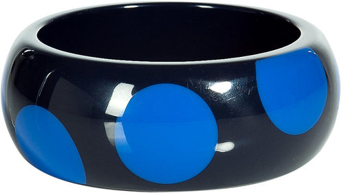 Marc by Marc Jacobs Black/Blue Dot Bangle