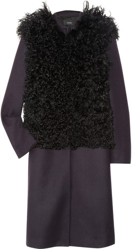 Joseph Dallas shearling and wool-blend felt coat