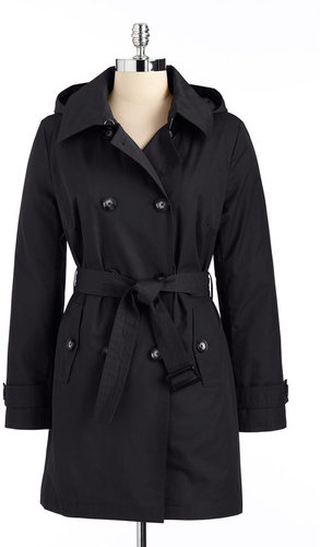 MICHAEL MICHAEL KORS Double Breasted Hooded Trench Coat