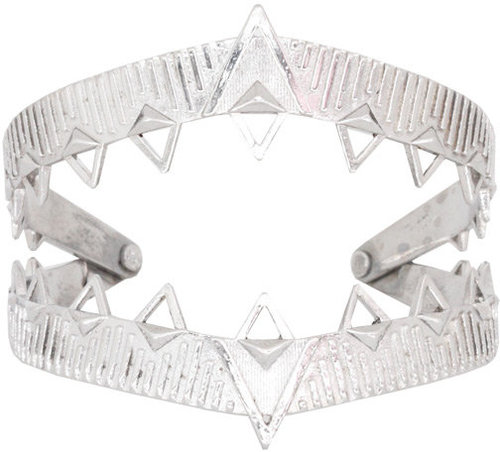 Claw Cuff in Silver - by House of Harlow 1960
