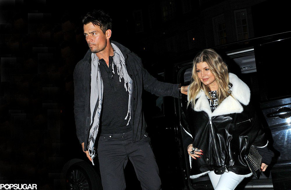 Josh Duhamel led the way for Fergie in London.