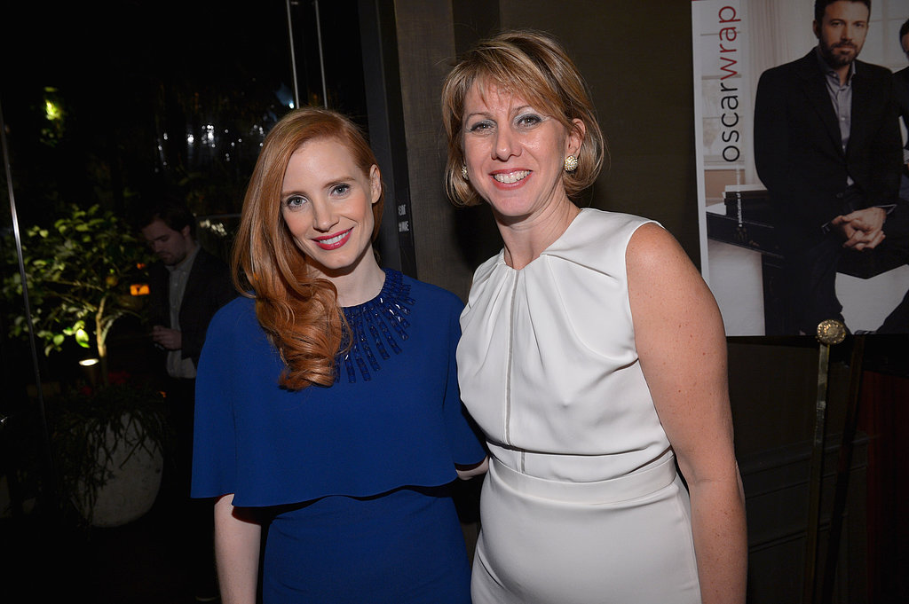 Jessica Chastain Gets Red-Carpet Ready at TheWrap's Pre-Oscar Bash